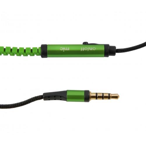 Наушники с микрофоном zigzag blue для mp3